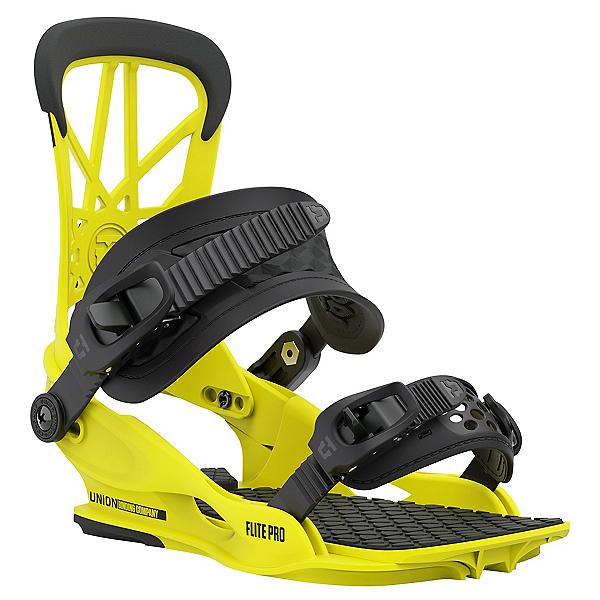 Union Flite Pro Snowboard Bindings, Hazard Yellow, 600