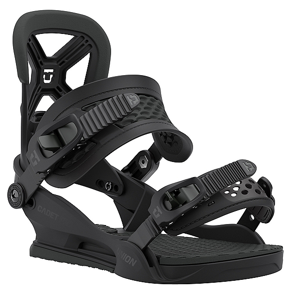 Union Cadet Pro Kids Snowboard Bindings, Black, 600