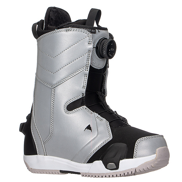 Burton Limelight Step On Womens Snowboard Boots, Gray Reflective, 600