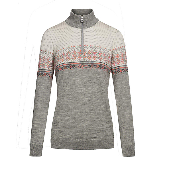 Dale Of Norway Hovden Womens Sweater, Lightcharcoal-Coral-Dark Charc, 600