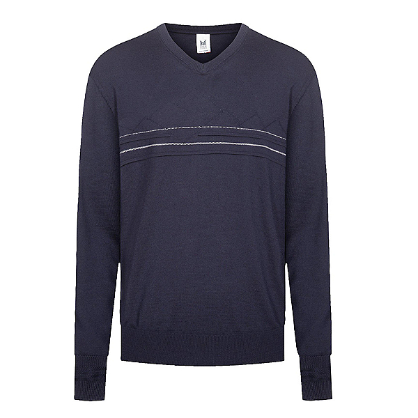 Dale Of Norway Syv Fjell V-Neck Mens Sweater, Navy-Offwhite, 600