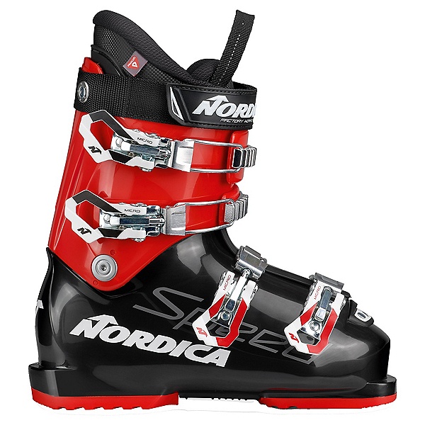 Nordica Speedmachine J 70 Kids Ski Boots, Black-Red, 600