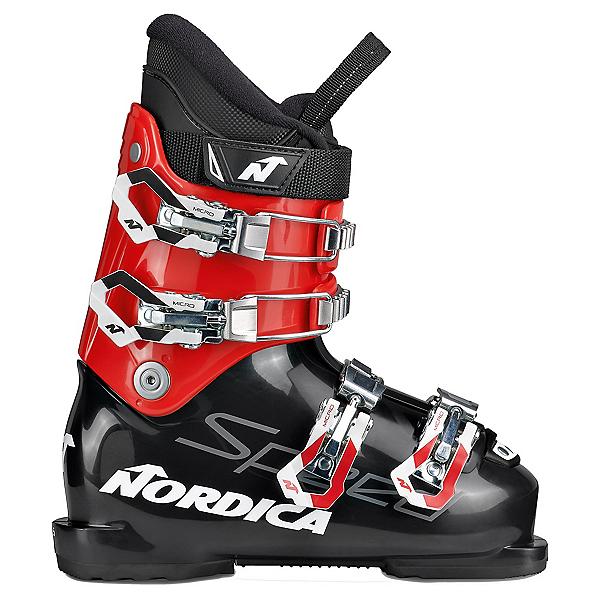 Nordica Speedmachine J 4 Kids Ski Boots, Black-Red, 600