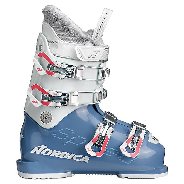 Nordica Speedmachine J 4 Girls Ski Boots, Light Blue-White, 600