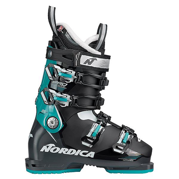 Nordica Promachine 95 Womens Ski Boots, Black-Anthracite-Blue, 600