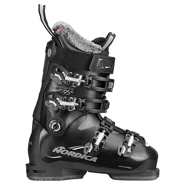 Nordica Sportmachine 95 Womens Ski Boots, Black-Anthracite-White, 600