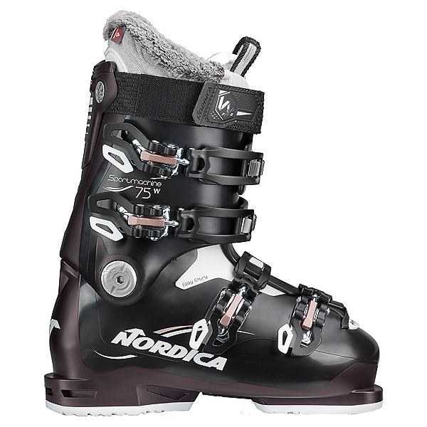 Nordica Sportmachine 75 Womens Ski Boots 2022, Black-Black Pearl-Pink, 600