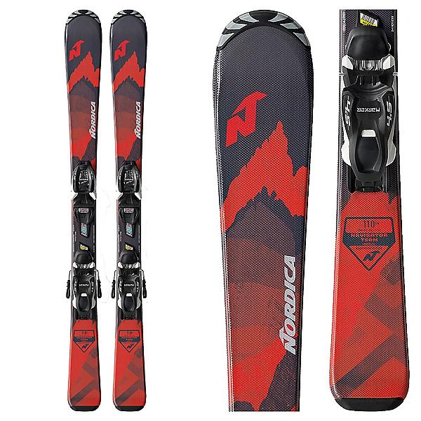 Nordica Navigator Team Kids Skis with FDT JR 4.5 Bindings 2022, , 600