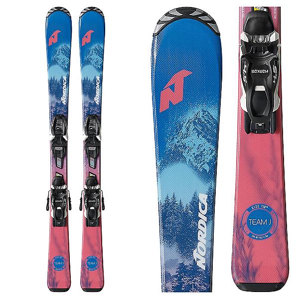 Nordica Team Kids Skis with FDT JR 7.0 Bindings, , 600