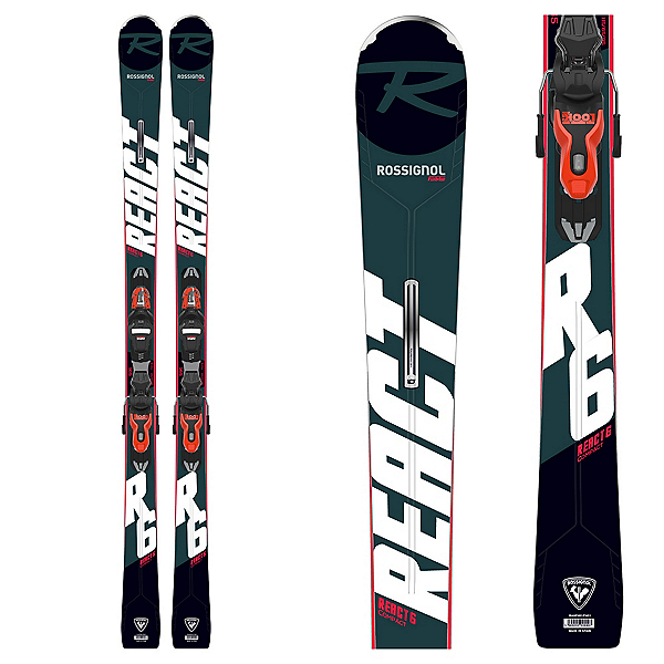 Rossignol React 6 Compact Skis with Xpress 11 GW Bindings, , 600