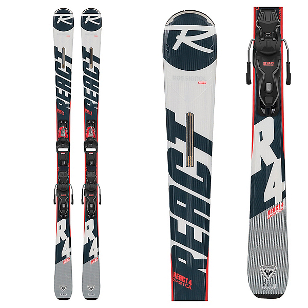 Rossignol React 4 Sport CA Skis with Xpress 11 GW Bindings, , 600