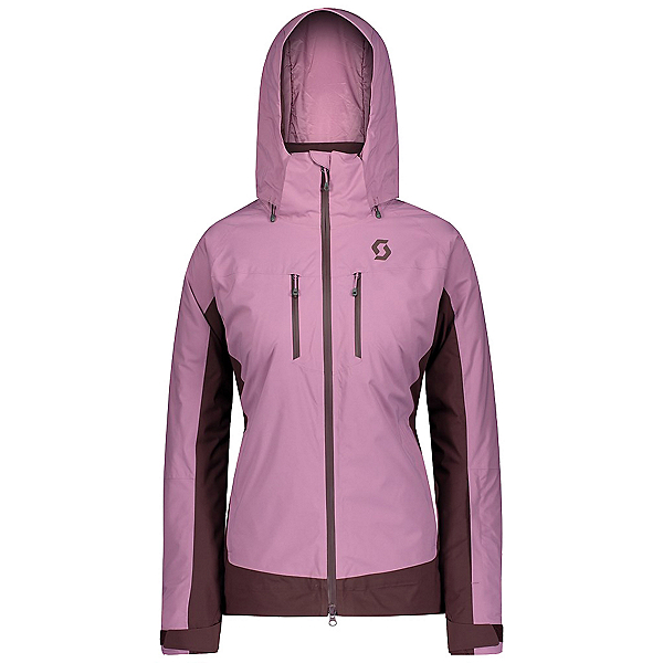 Scott Ultimate DRX Womens Insulated Ski Jacket, Cassis Pink-Red Fudge, 600