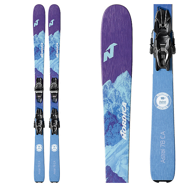 Nordica Astral 78 CA Womens Skis with TP2 Compact 10 FDT Bindings, , 600