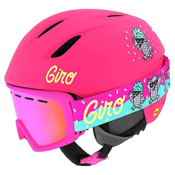 Giro Launch Combo Pack Kids Helmet, Matte Bright Pink-Disco Birds, 600