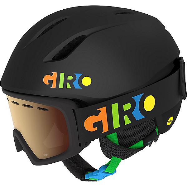 Giro Launch Combo Pack Kids Helmet, Matte Matte Black Party Blocks, 600