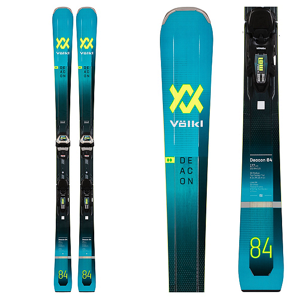 Volkl Deacon 84 Skis with Lowride XL 13 FR GW Bindings, , 600