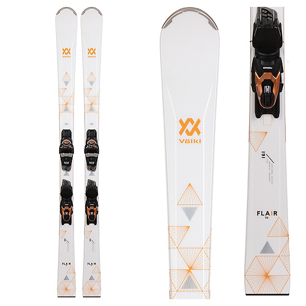 Volkl Flair 76 Womens Skis with vMotion 10 GW Bindings, , 600