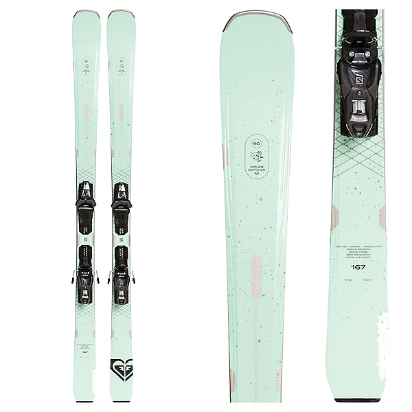 Roxy Dreamcatcher 80 Womens Skis with Lithium 10 GW Bindings, , 600