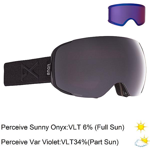 Anon M2 Goggles, Smoke-Perceive Sunny Onyx + Bonus Lens, 600