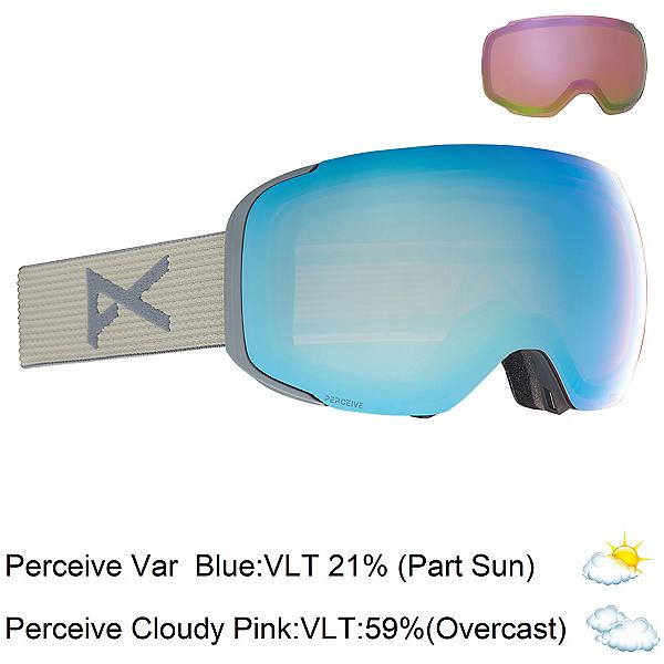 Anon M2 Goggles, Gray-Perceive Variable Blue + Bonus Lens, 600