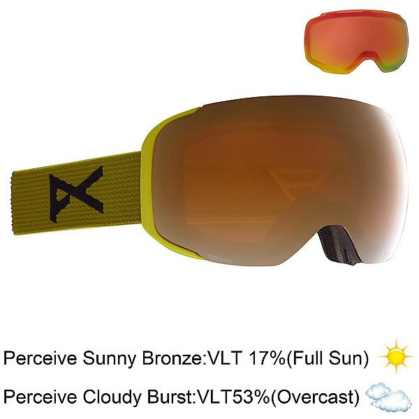 Anon M2 Goggles, Green-Perceive Sunny Bronze + Bonus Lens, 600