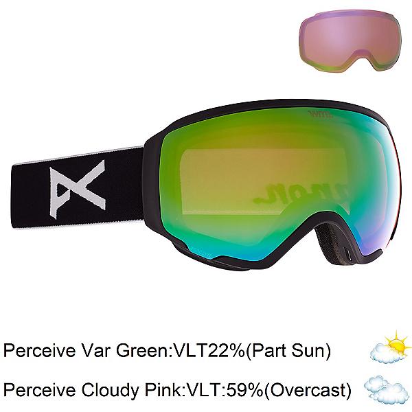 Anon WM 1 Womens Goggles 2022, Black-Perceive Variable Green + Bonus Lens, 600