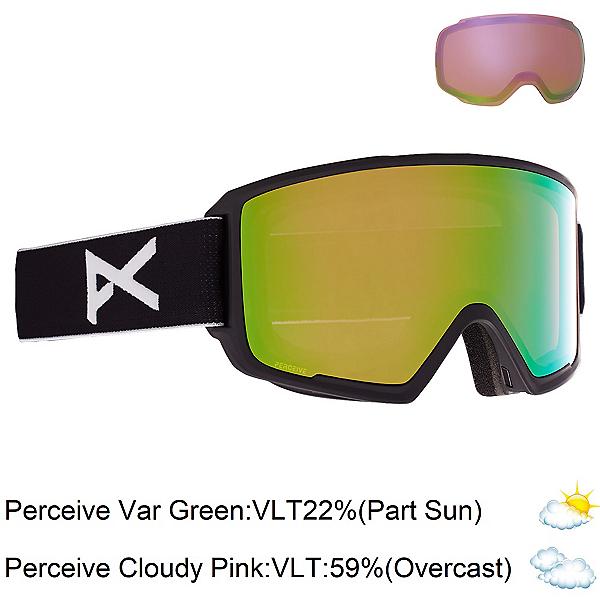 Anon M3 Goggles 2022, Black-Perceive Variable Green + Bonus Lens, 600