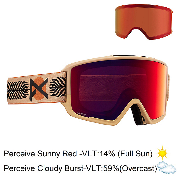 Anon M3 Goggles 2022, Magee-Perceive Sunny Red + Bonus Lens, 600