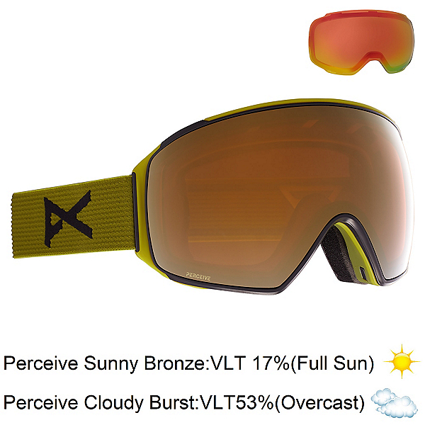 Anon M4 Toric Goggles, Green-Perceive Sunny Bronze + Bonus Lens, 600