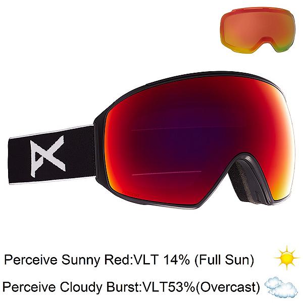 Anon M4 Toric Goggles 2022, Black-Perceive Sunny Red + Bonus Lens, 600