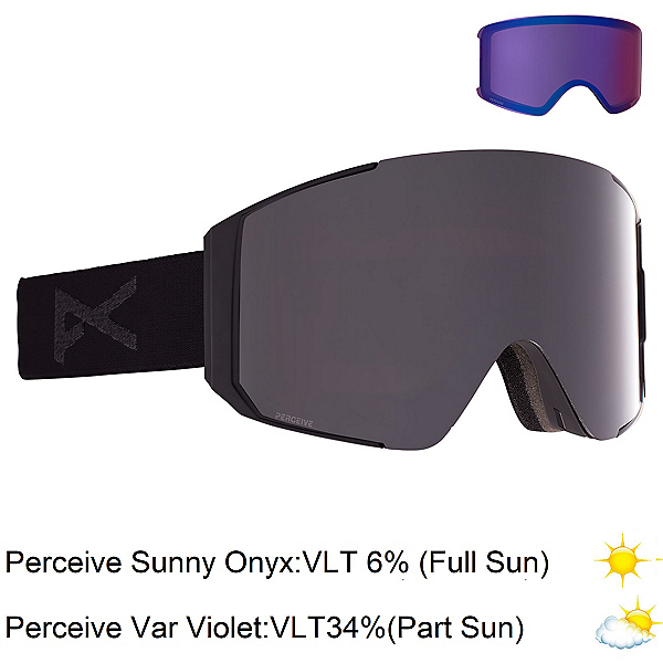 Anon Sync Goggles 2022, Smoke-Perceive Sunny Onyx + Bonus Lens, 600