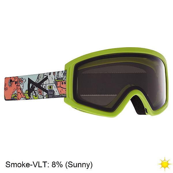 Anon Tracker 2.0 Kids Goggles, Bot Green-Smoke, 600