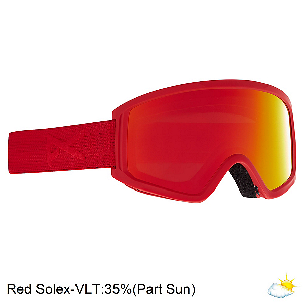 Anon Tracker 2.0 Kids Goggles, Red-Red Solex, 600
