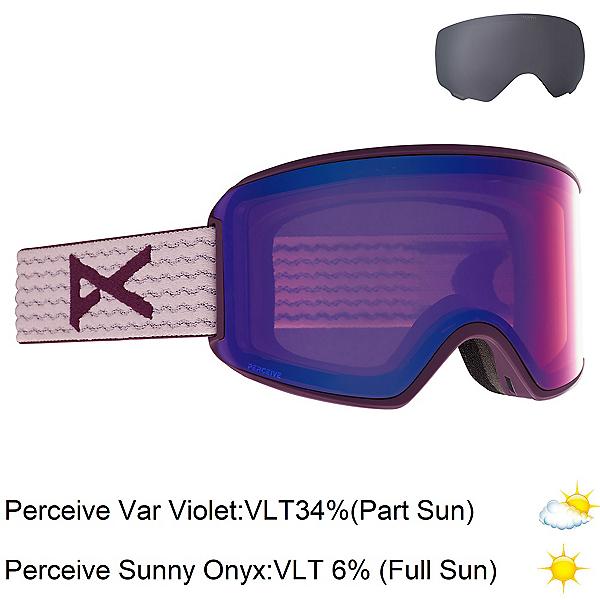 Anon WM3 Womens Goggles, Purple-Perceive Variable Viole + Bonus Lens, 600