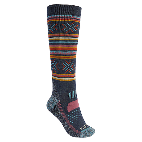 Burton Performance+ Womens Snowboard Socks, Dark Slate, 600
