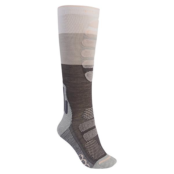 Burton Performance+ Womens Snowboard Socks, Gray Heather, 600