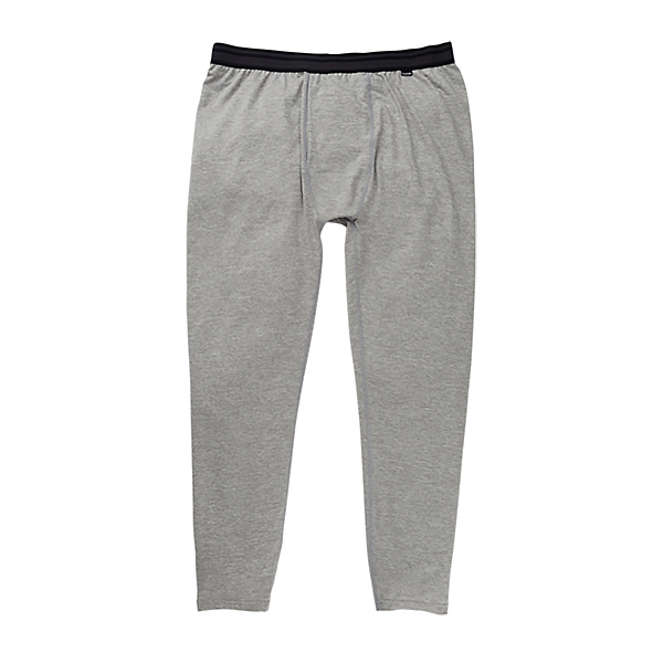 Burton Midweight Mens Long Underwear Pants, Gray Heather, 600