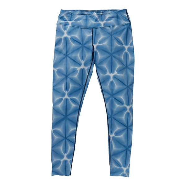 Burton Midweight Womens Long Underwear Pants, Blue Dailola Shibori, 600