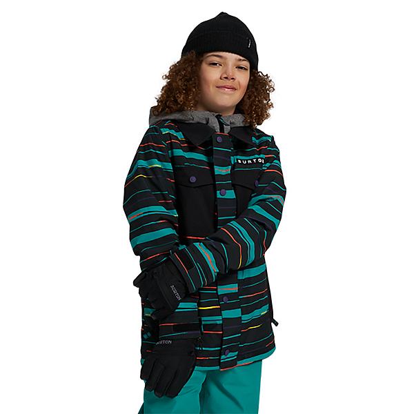 Burton Uproar Boys Snowboard Jacket, True Black Scribble, 600