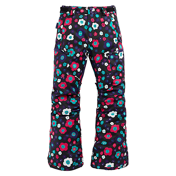Burton Elite Cargo Girls Snowboard Pants, Flower Power, 600