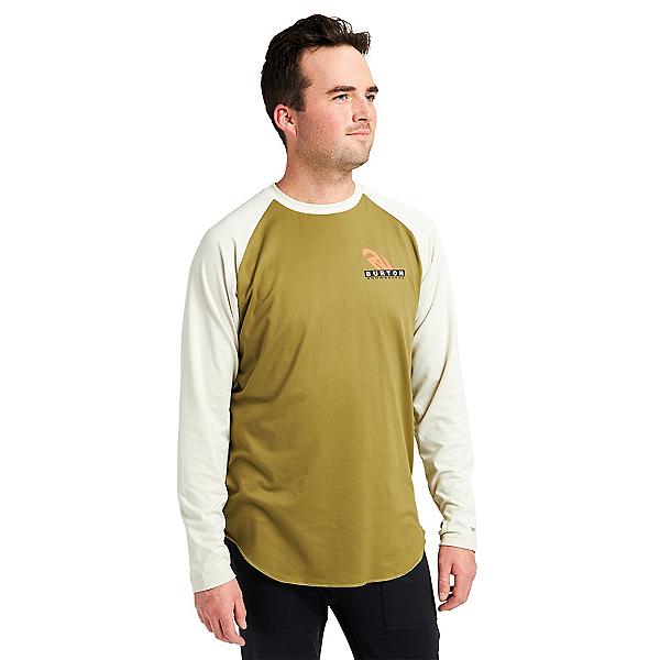 Burton Roadie Tech Tee Mens Long Underwear Top, Martini Olive, 600