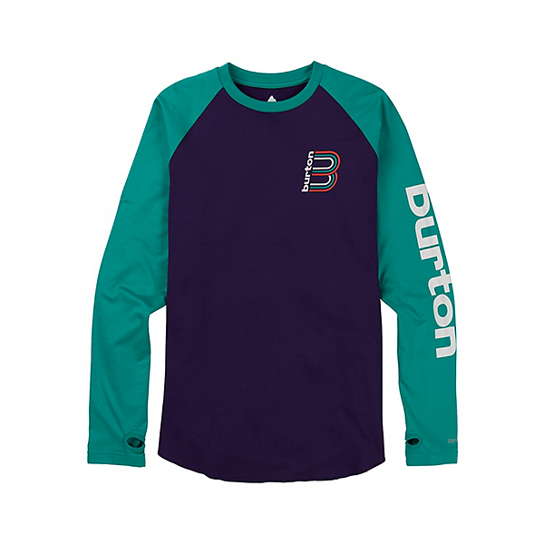Burton Roadie Tech Tee Mens Long Underwear Top, Parachute Purple-Dynasty, 600