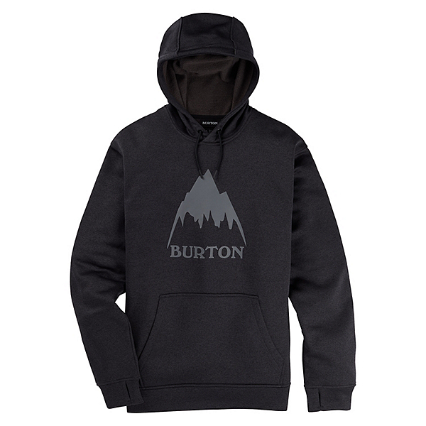 Burton Oak Pullover Mens Hoodie, True Black Heather, 600