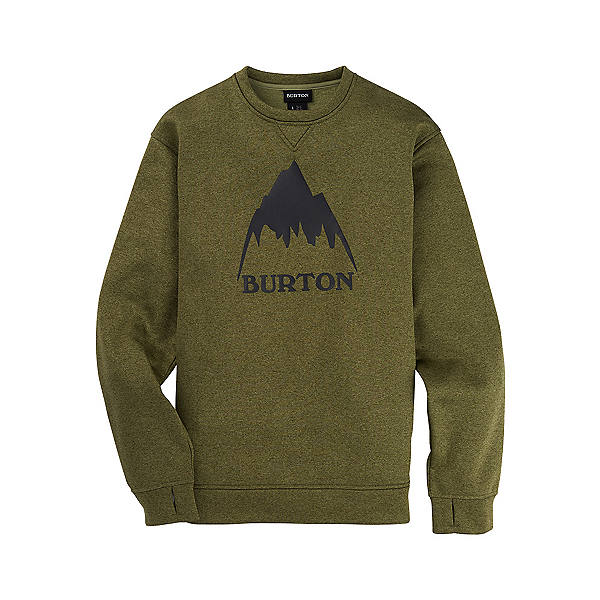 Burton Oak Crew Pullover, Martini Olive Heather, 600