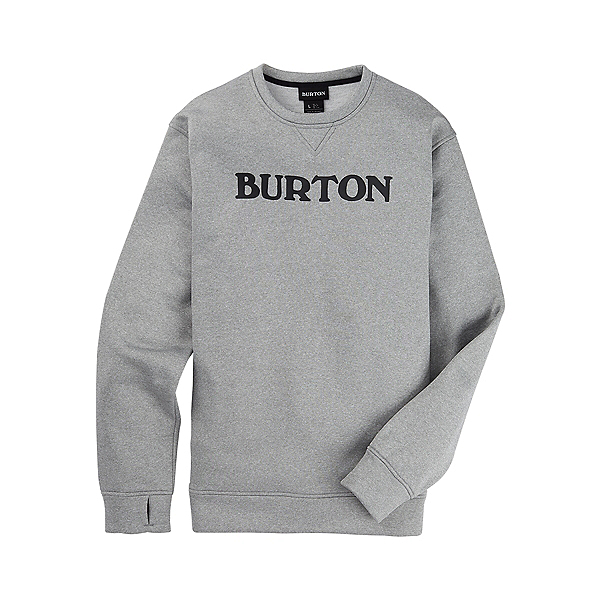 Burton Oak Crew Pullover, Gray Heather, 600