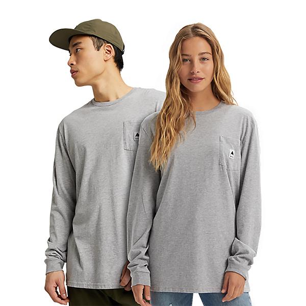 Burton Colfax Long Sleeve Mens Shirt, Gray Heather, 600