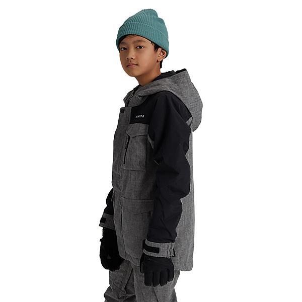 Burton Covert Boys Snowboard Jacket, Bog Heather-True Black, 600