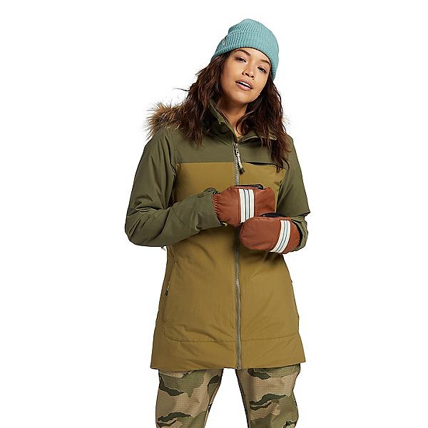 Burton Lelah Womens Insulated Snowboard Jacket, Keef-Martini Olive, 600