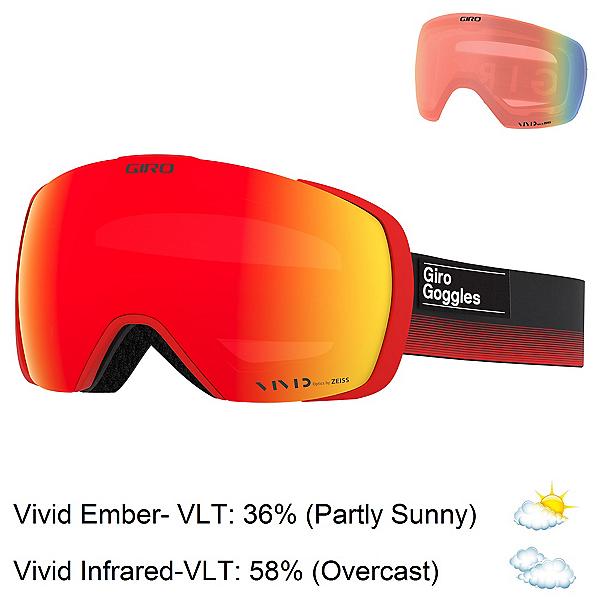 Giro Contact Goggles, Black Red Label-Vivid Ember + Bonus Lens, 600
