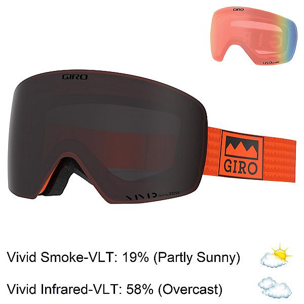 Giro Contour Goggles, Orange Alps-Vivid Smoke + Bonus Lens, 600
